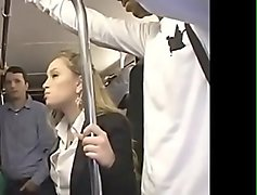 Blonde Milf was molested by Japanese guy to orgasm on bus - ReMilf.com