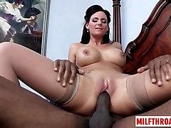 brunette milf ass worship and cumshot