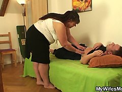 chubby wifes mother rides his dick