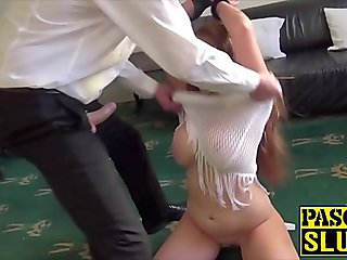 Ginger Ashleigh DeVere penetrated after sucking cock