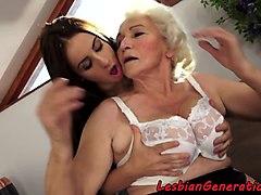 busty grandma masturbate together
