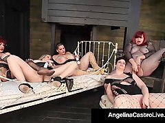 curvy bbw all star wet pussy fest! starring angelina castro!