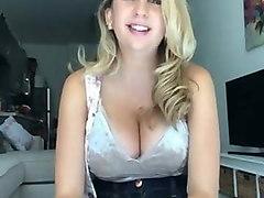 nice blonde with big boobs