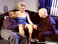 Threesome For Horny MILF Swinger Rough Sex