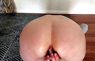 Alone home, anal masturbaiting
