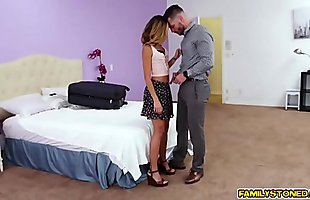 Step uncle fucks Averie Moore doggystyle