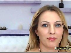 blonde russian angel enjoys lovense dildo on cam live