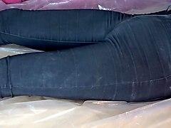 orgasmus in eingepisster jeans