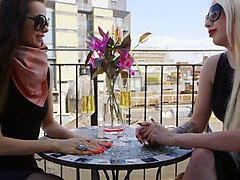 rich milfs amica bentley and valerie fox share a stud