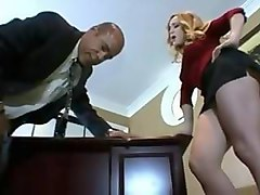 femdom office blonde and bbc