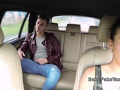 natural busty taxi driver fucks stud in public