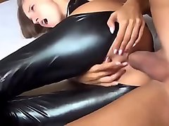 Fucking My Sister Wearing Latex Hard in The Ass