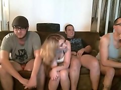 Amateur bisexual webcam foursome