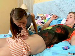 petite virgin step-sister seduce bro to get first time anal