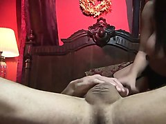 fleshy girl get ravished by two bouncy studs in a mmf sex