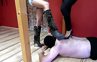 International Trampling -Mistress Inka, Sweetbaby and Lady G
