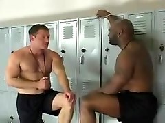 Orgy Interracial in the Locker Room
