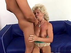 Exotic pornstar in amazing blonde, creampie porn clip