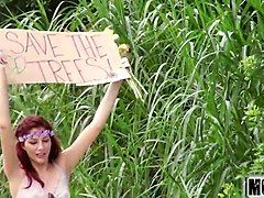 three naked teen hippies video starring alexis blaze - mofos