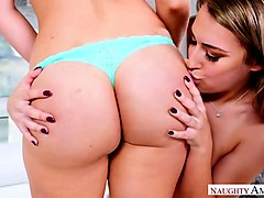 big tits, big ass, big dick threesome! - naughty america