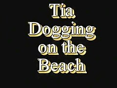 Cumslut Tia Public Beach Dogging With Lots Of Facial