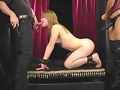 spanking, anal, femdom, blond, strapon