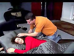 Stepmom bates son by cleavage and ass