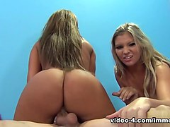 Incredible pornstars Richelle Ryan, Jennifer White, Brianna Brooks in Hottest Stockings, Cunnilingus sex clip