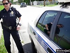 Lucky dude pleasure orally by busty cop