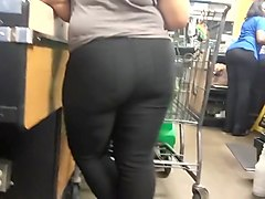 Shopping for ass in the checkout line