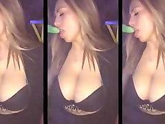 bouncing big natural boobs