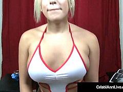 busty nurse cristi ann helps your hard dick at a sperm bank!