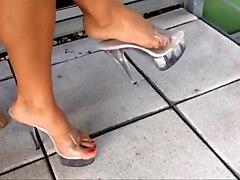 16 cm high heels stripper mules