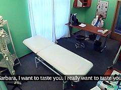 Barbara in Doctor Prank Calls His Sexy Nurse - FakeHospital
