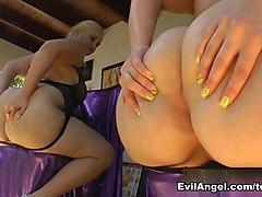 Hottest pornstars Roxy Raye, Luna C. Kitsuen, Felicia Clover in Fabulous Pornstars, Softcore porn clip
