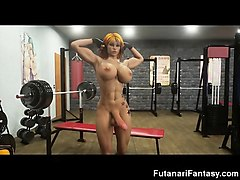 futanari selfsucking and self facials!