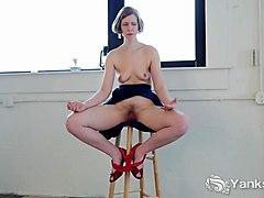 horny yanks babe carmen december toys her pussy