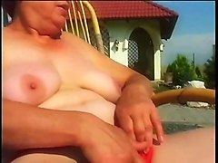 saggy big tits outdoor granny sex