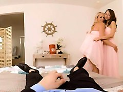 vr porn - bridesmaids mia malkova & riley reid fuck the groo
