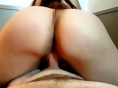 to big, brunette, creampie, wife, reverse cowgirl