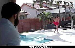 Naughty Teen Has Fun With Her Step Uncle By the Pool