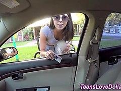Reality teen cummed money