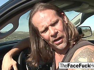 Jennifer White gets her face fucked hard