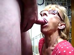 wrinkled awful mature slut provided my buddy with a terrific blowjob