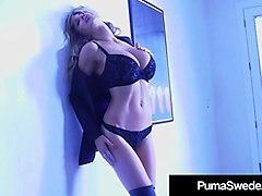 busty blonde bombshell puma swede dildo bangs her sweet cunt