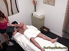 masseuse kehlani kalypso massages big cock of client