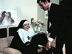 two young and naughty nuns having orgy with two guys
