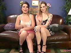 Three sensual lesbians having hardcore sex