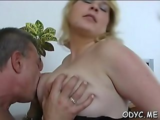 Appealing blonde kitty Gabby with firm natural tits begs for wang