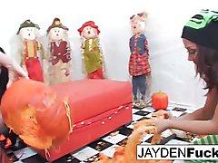 Jayden and Kristina'_s Pumpkin Fun